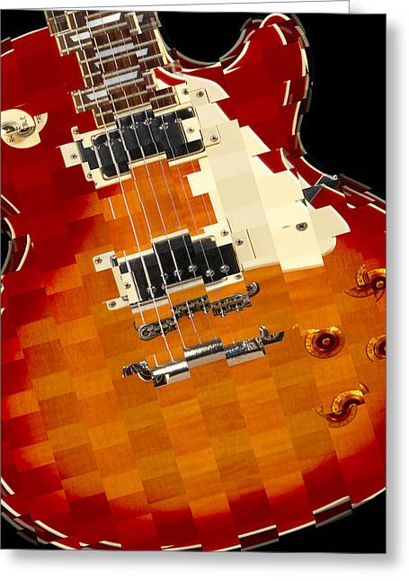 Vintage Guitars Greeting Cards - Classic Guitar Abstract Greeting Card by Mike McGlothlen