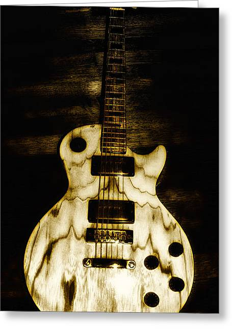 Bill Cannon Greeting Cards - Les Paul Guitar Greeting Card by Bill Cannon