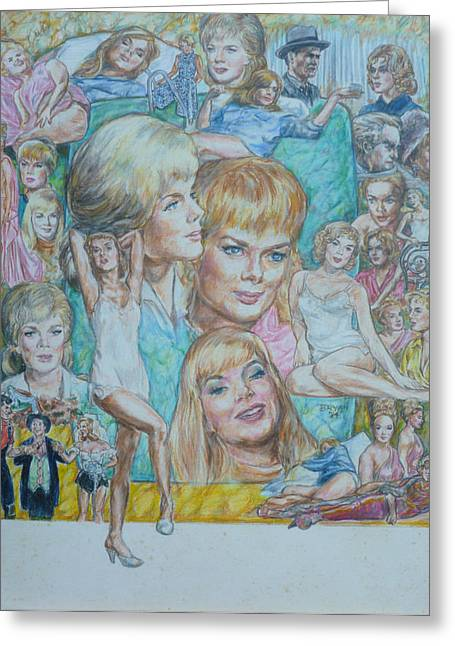 Abner Greeting Cards - Leslie Parrish  Greeting Card by Bryan Bustard