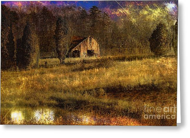 Barn Digital Art Greeting Cards - Less Than Perfect Greeting Card by Sari Sauls