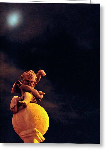 Night Angel Greeting Cards - Lesser Angel Greeting Card by David Arment