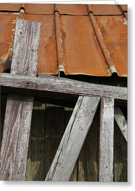 Rusty Tin Roof Greeting Cards - Lesser Homes And Gardens Greeting Card by Odd Jeppesen