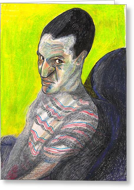 Therapy Pastels Greeting Cards - Lester Greeting Card by Al Goldfarb