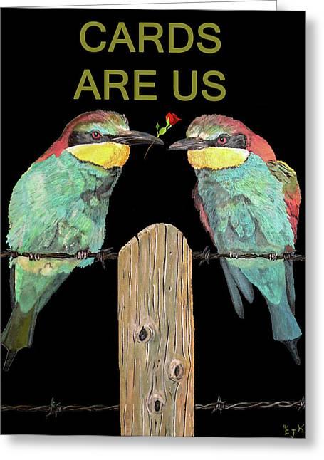 Lesvos Greeting Cards - Lesvos Birds Greeting Card by Eric Kempson