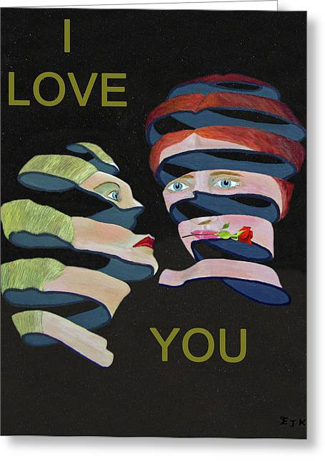 Lesvos Greeting Cards - Lesvos Rose I Love You Greeting Card by Eric Kempson