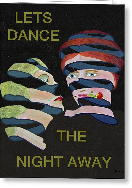 Lesvos Greeting Cards - Lesvos Rose Lets Dance The Night Away Greeting Card by Eric Kempson
