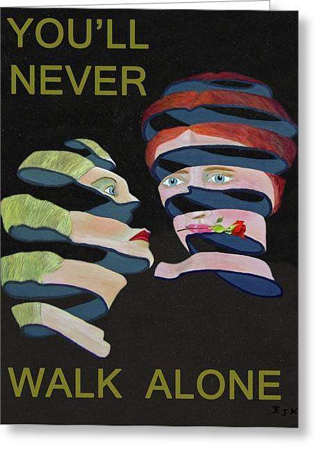 Lesvos Greeting Cards - Lesvos Rose Youll Never Walk Alone  Greeting Card by Eric Kempson