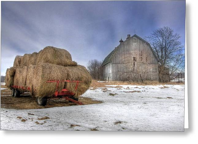 Old Barns Greeting Cards - Let em Roll Greeting Card by Lori Deiter