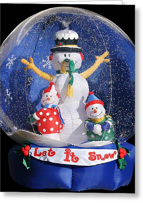 Snowball Greeting Cards - Let it snow Greeting Card by Christine Till