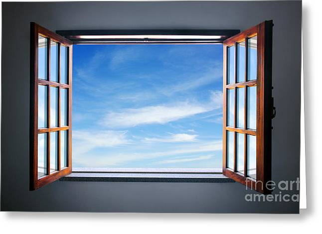 Air Greeting Cards - Let the blue sky in Greeting Card by Carlos Caetano