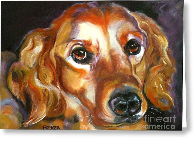 Retriever Prints Drawings Greeting Cards - Let the Sunshine In Greeting Card by Susan A Becker