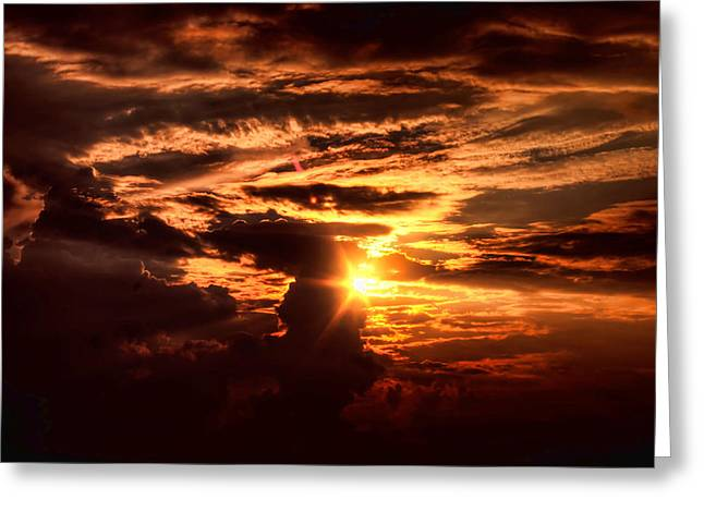 Let There Be Light Greeting Card by Joetta West