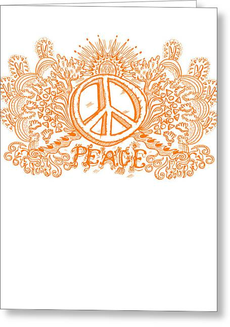 On Demand Greeting Cards - Let There Be Peace Greeting Card by Paul Telling