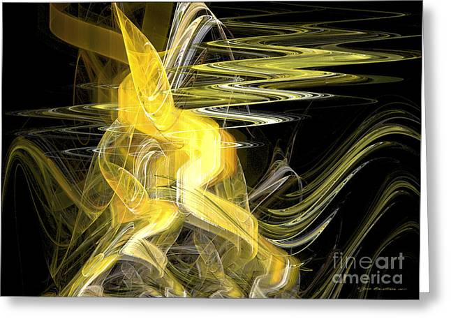 Interior Still Life Mixed Media Greeting Cards - Let us dance -abstract art Greeting Card by Abstract art prints by Sipo