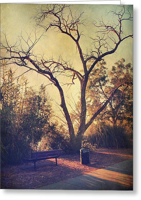 Let Us Sit Side By Side Greeting Card by Laurie Search