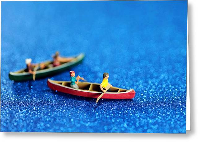 Let's boating together Greeting Card by Paul Ge