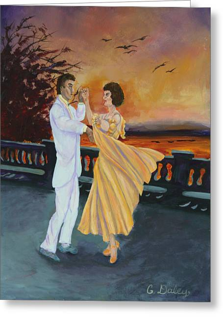 Gail Daley Greeting Cards - Lets Dance Greeting Card by Gail Daley
