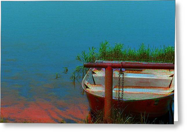 Boats On Water Digital Greeting Cards - Lets Go Fishing Greeting Card by Christy Leigh