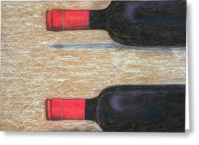 Wine-bottle Pastels Greeting Cards - Lets have another Greeting Card by Ken Martin
