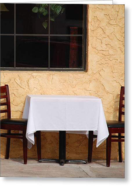 Italian Restaurant Greeting Cards - Lets have lunch together Greeting Card by Susanne Van Hulst