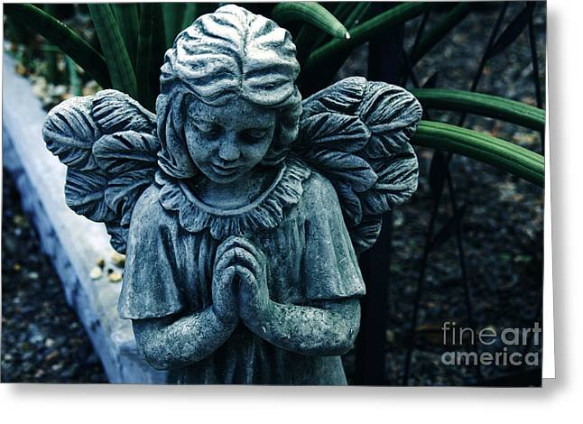 Praying Hands Greeting Cards - Lets Pray Greeting Card by Susanne Van Hulst