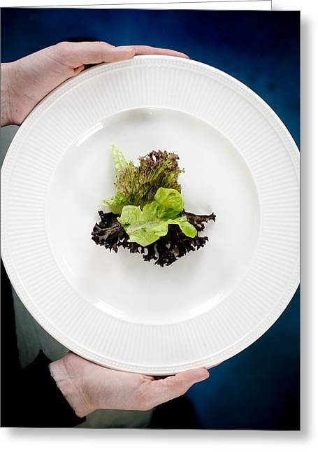 Low-calorie Greeting Cards - Lettuce Greeting Card by Arno Massee