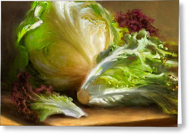 Lettuce Greeting Card by Robert Papp