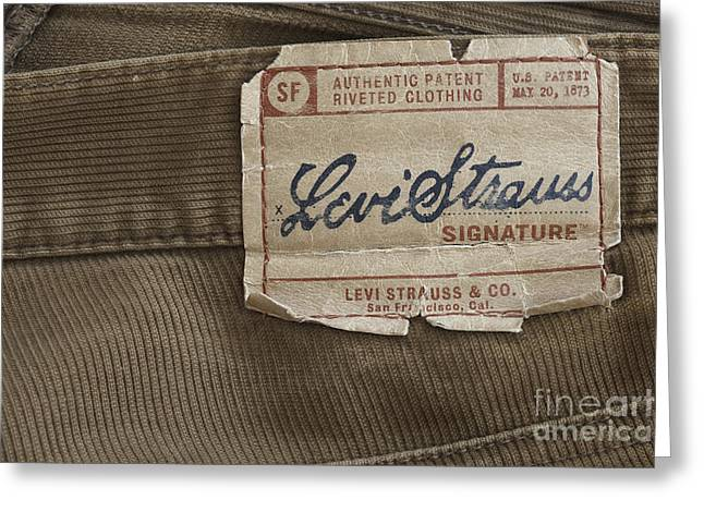 Levi Strauss Signature back patch Greeting Card by Igor Kislev
