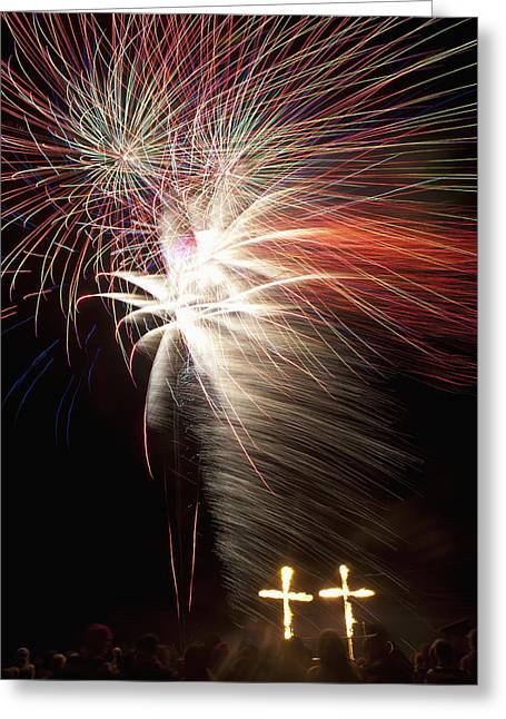 Bonfire Night Greeting Cards - Lewes, East Sussex Greeting Card by Axiom Photographic