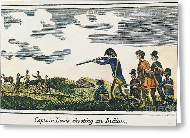 Lewis Gun Greeting Cards - Lewis & Clark: Native American, 1811 Greeting Card by Granger