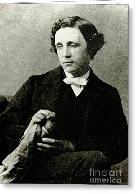 Lewis Carroll Greeting Cards - Lewis Carroll, English Author Greeting Card by Photo Researchers