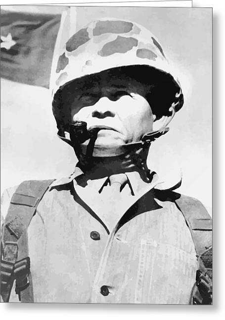 Navy Cross Greeting Cards - Lewis Chesty Puller Greeting Card by War Is Hell Store