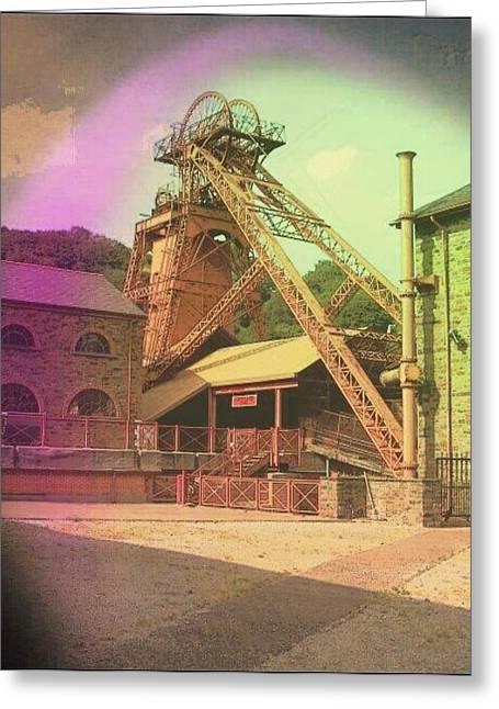 Merthyr Greeting Cards - Lewis Merthyr Colliery Rhondda Valley Greeting Card by David Gregory