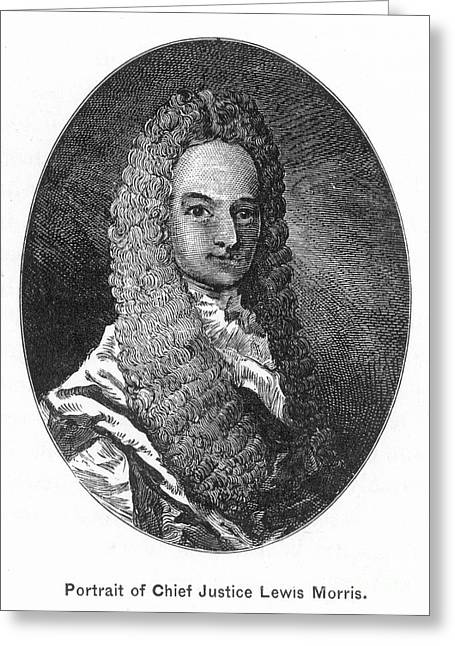 Chief Justice Greeting Cards - Lewis Morris (1671-1746) Greeting Card by Granger