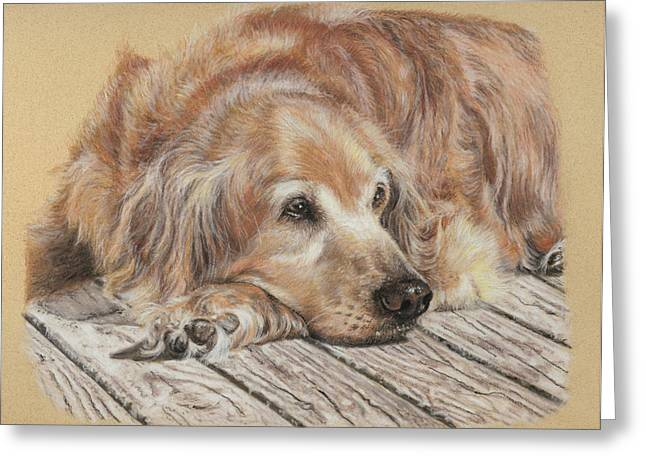 Canine Greeting Cards - Lexie Greeting Card by Terry Kirkland Cook