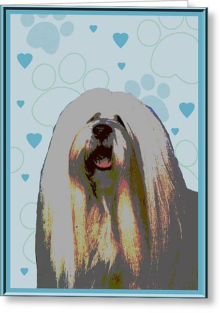 Lhasa Apso Greeting Card by One Rude Dawg Orcutt