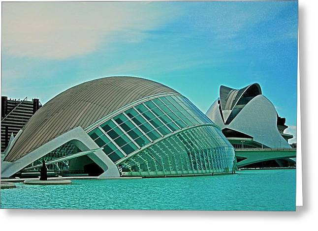 Attraktion Greeting Cards - LHemisferic - Valencia Greeting Card by Juergen Weiss