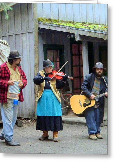Musicans Greeting Cards - Liarsville Alaska Musicans Greeting Card by Mindy Newman