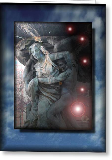 Reality Mixed Media Greeting Cards - Liberating Light Greeting Card by Jon Became the Anti-Christ
