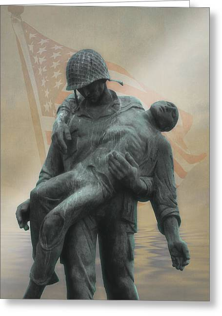 Thomas York Greeting Cards - Liberation Monument Greeting Card by Tom York Images