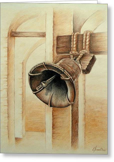 Liberty Bell Greeting Card by Lena Day