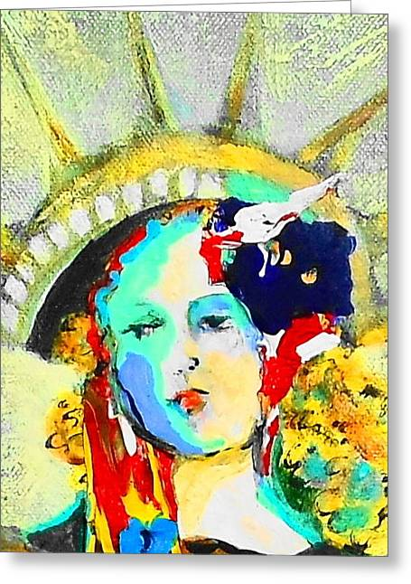 Liberty Greeting Card by Claire Sallenger Martin