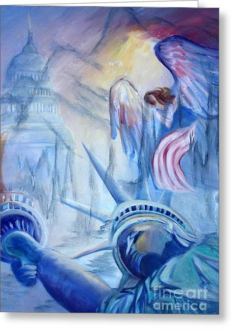 Liberty For  All Greeting Card by Judy Groves
