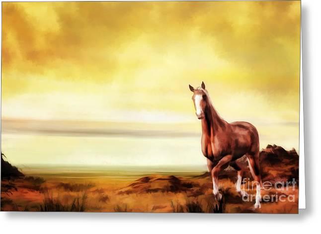 Pasture Digital Art Greeting Cards - Liberty Greeting Card by John Edwards