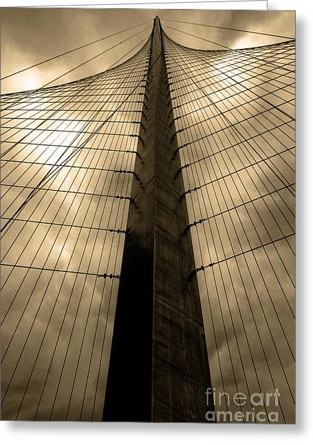 Rope Greeting Cards - Liberty pole Greeting Card by Ken Marsh