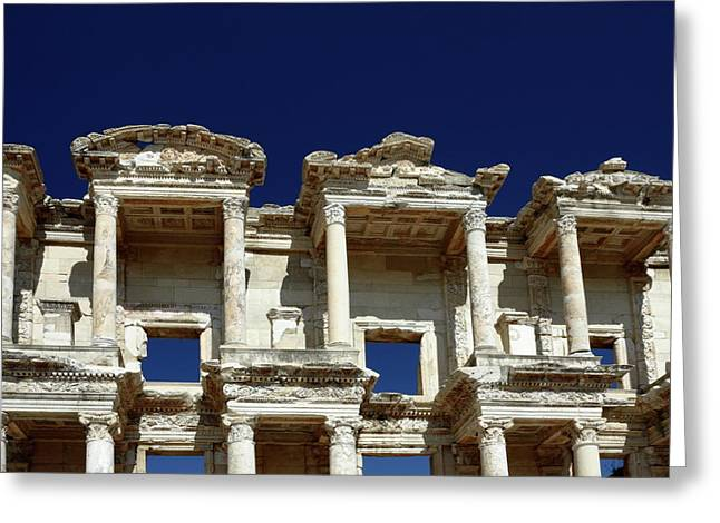 Library Of Celsus Greeting Cards - Library of Celsus in Ephesus Greeting Card by Sally Weigand