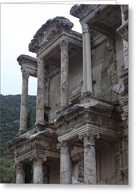 Library Of Celsus Greeting Cards - Library of Celsus Greeting Card by Alivias Child