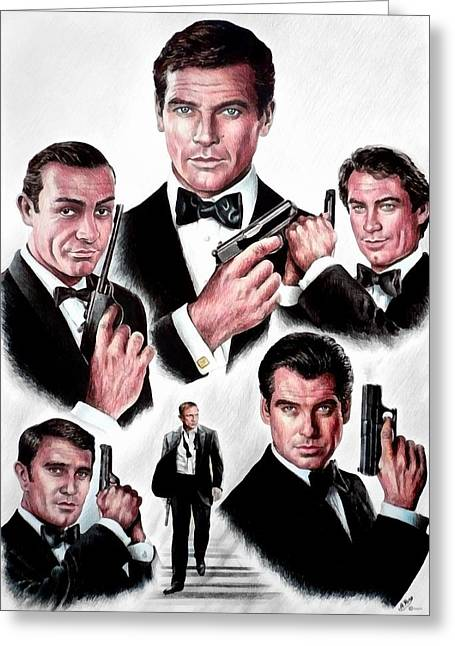 Secret Agent Greeting Cards - Licence to kill  Digital Greeting Card by Andrew Read