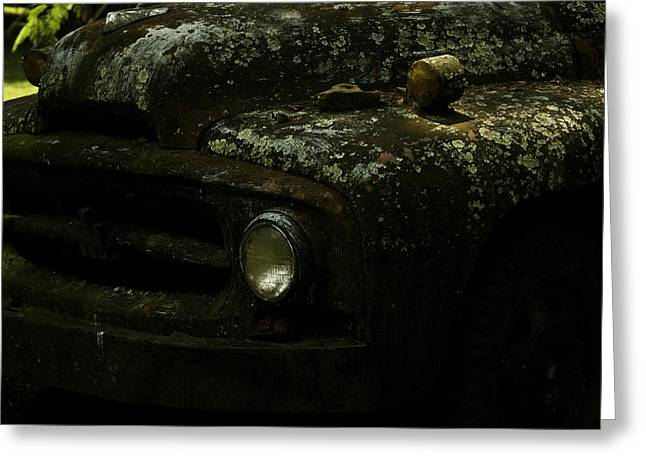 Shack Greeting Cards - Lichen Covered Truck 10 Greeting Card by Douglas Barnett
