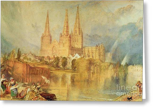 River View Greeting Cards - Lichfield Greeting Card by Joseph Mallord William Turner